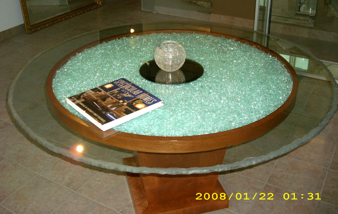 Custom glass tables and glass table tops chicago il for Creative table tops