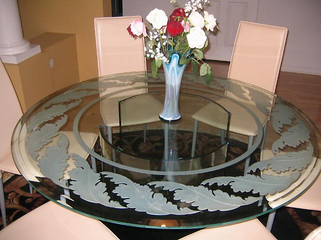 Custom Glass Tables And Glass Table Tops Chicago Il