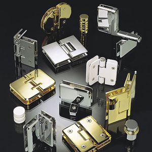 Large selection of glass door hardware