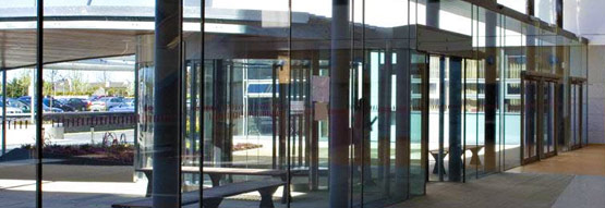 Central Glass Commercial Entrance Way